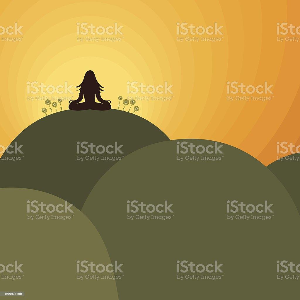 Fresh Air Nature Meditation royalty-free stock vector art