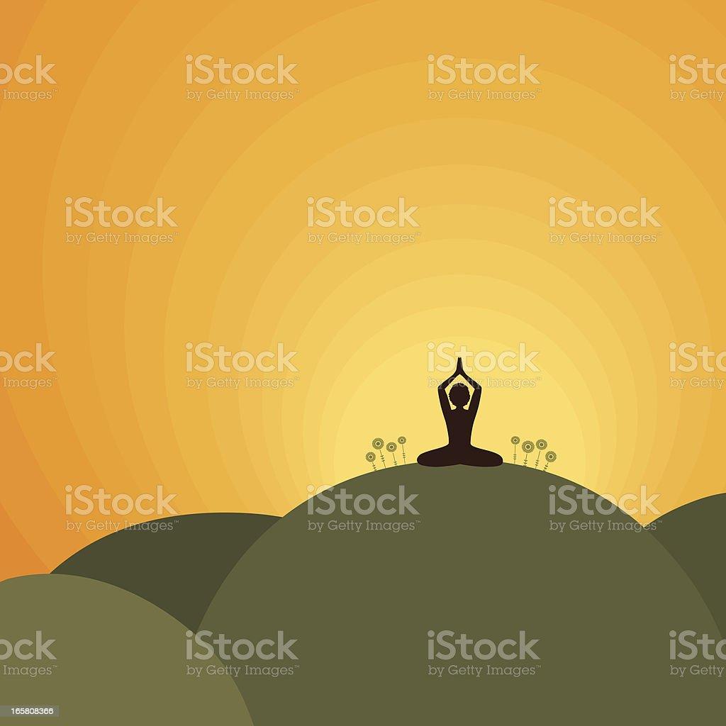 Fresh Air Nature Yoga royalty-free stock vector art