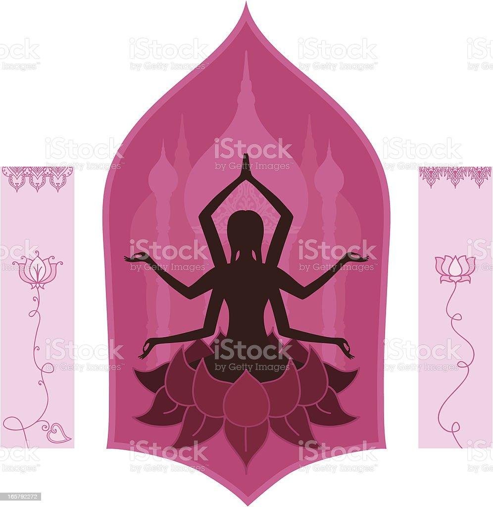 Fresh Air Yoga Goddess vector art illustration