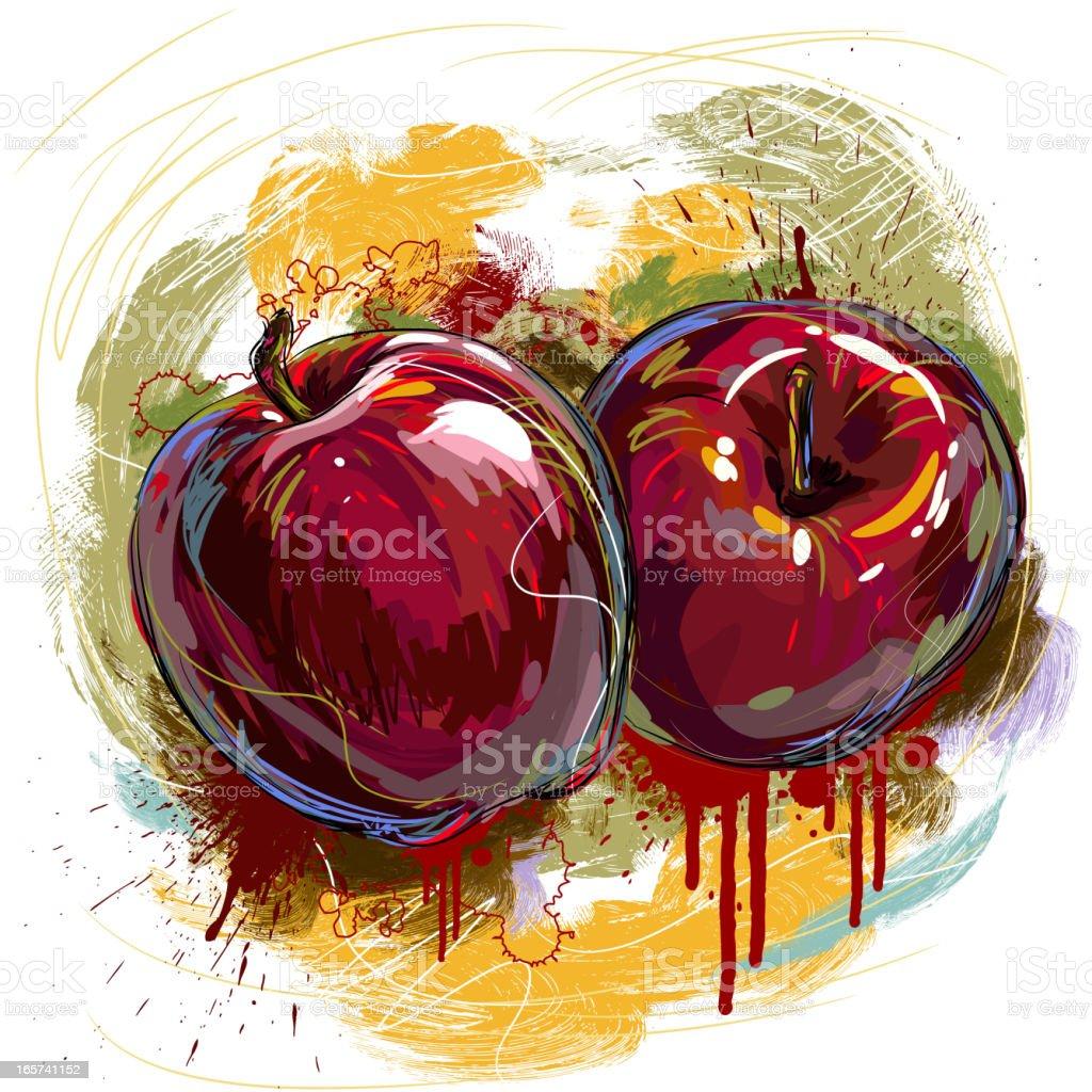 Fresh Apples royalty-free stock vector art