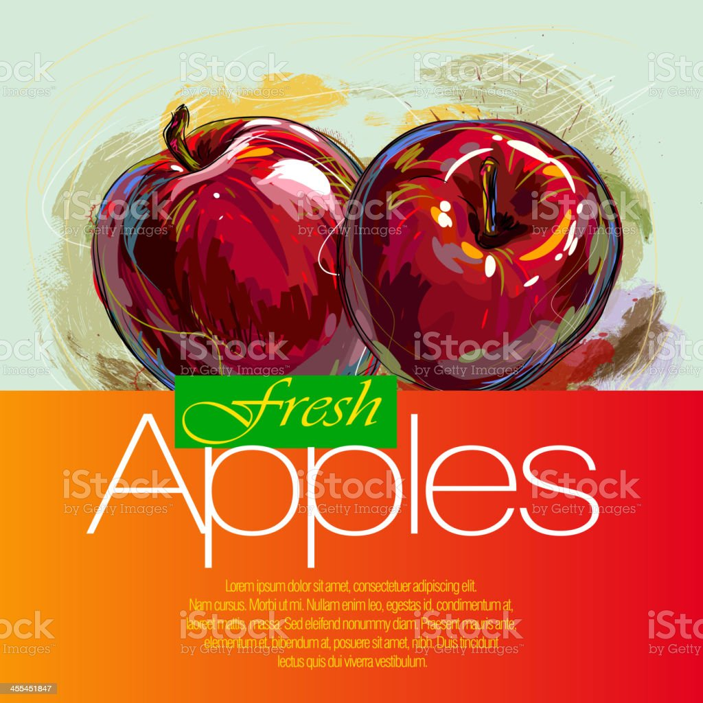 Fresh Apples royalty-free stock vector art