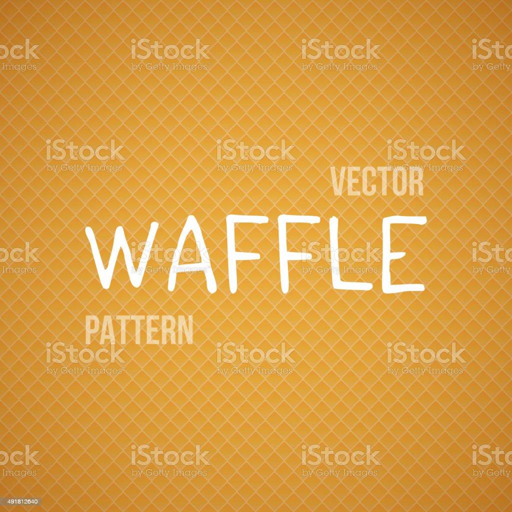 Fresh Baked Orange Waffle Vector Seamless Background Pattern vector art illustration