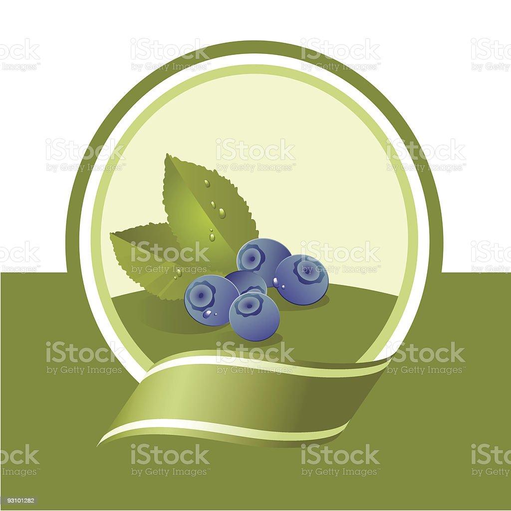 fresh bilberry royalty-free stock vector art