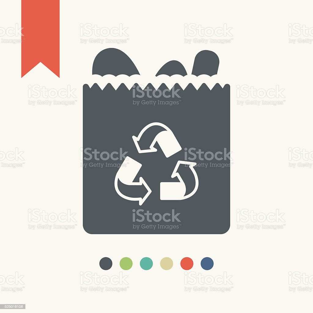 Fresh bread in a package vector art illustration
