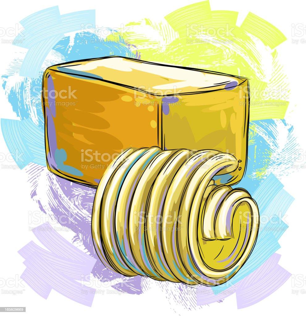 Fresh Butter royalty-free stock vector art