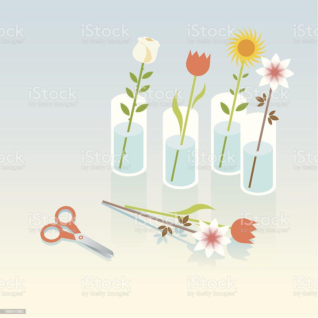 fresh cut flowers royalty-free stock vector art