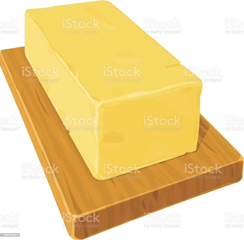 Fresh Dairy Butter vector art illustration