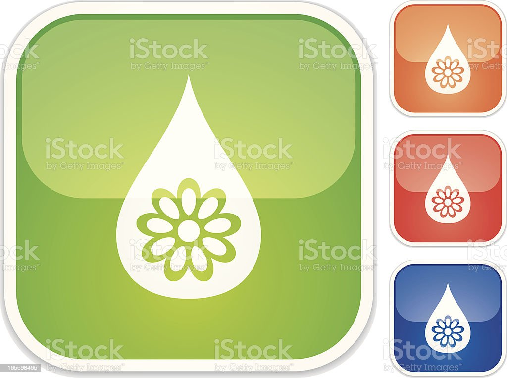 fresh drop - Quadro Glossy C1 royalty-free stock vector art