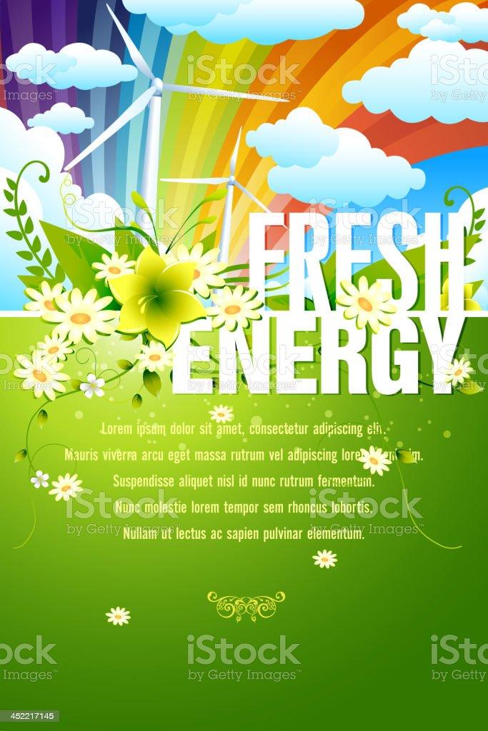Fresh Energy Background royalty-free stock vector art
