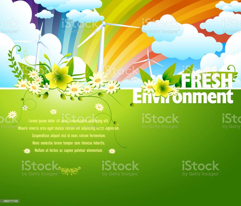 Fresh Environment Background royalty-free stock vector art