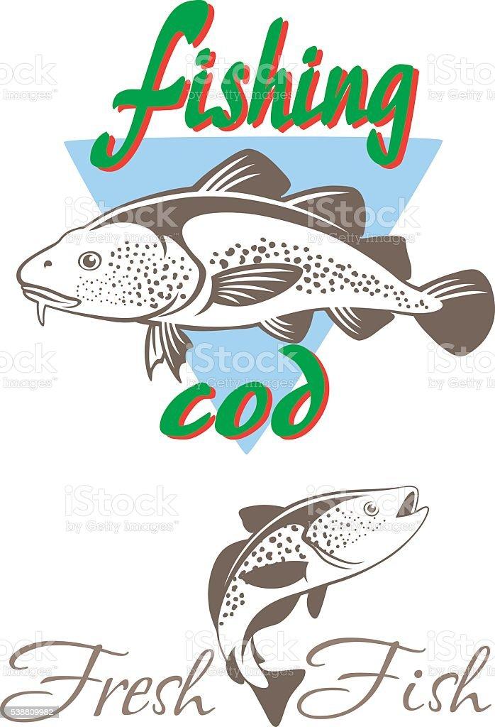 fresh fish vector art illustration