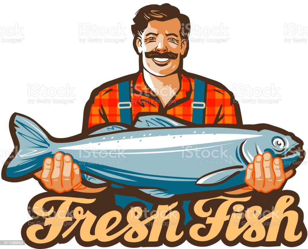 fresh fish vector vector art illustration