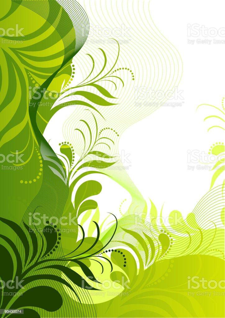 fresh Floral Elements royalty-free stock vector art