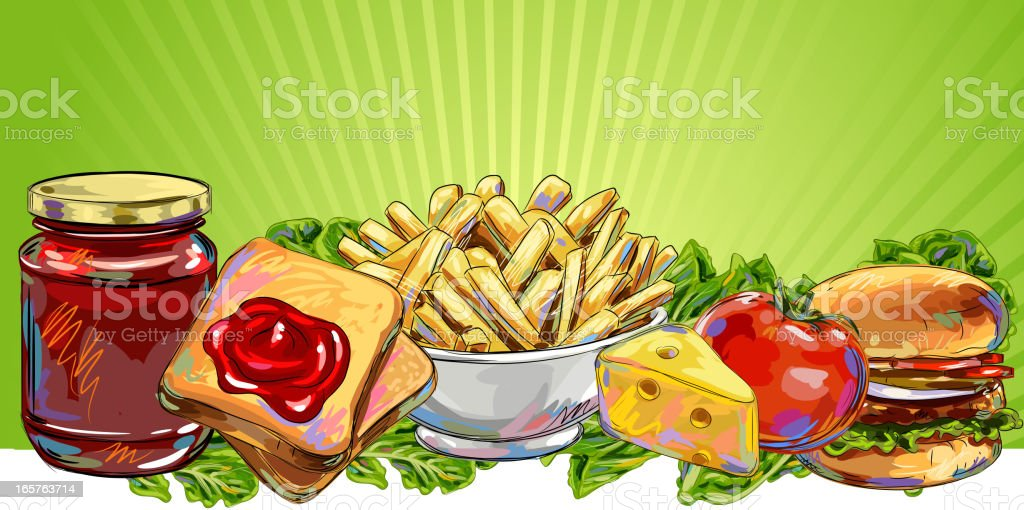 Fresh Food Banner/Background royalty-free stock vector art