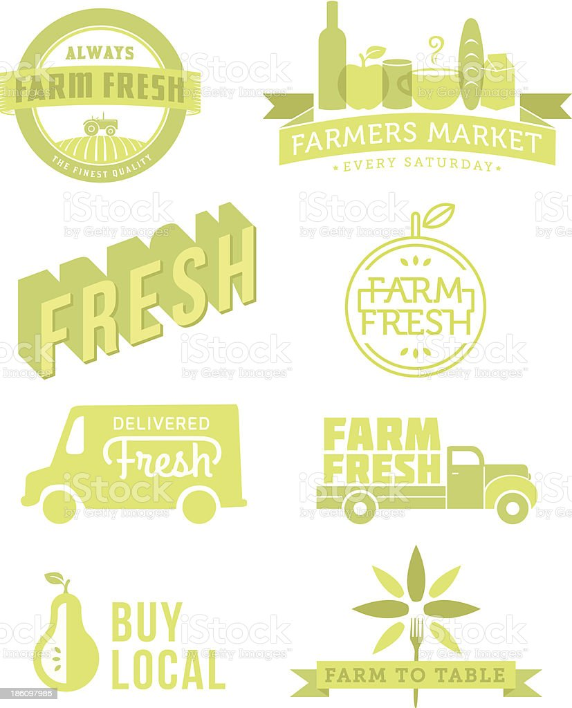 Fresh Food vector art illustration
