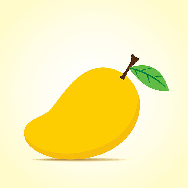 Mango on Banana Clip Art