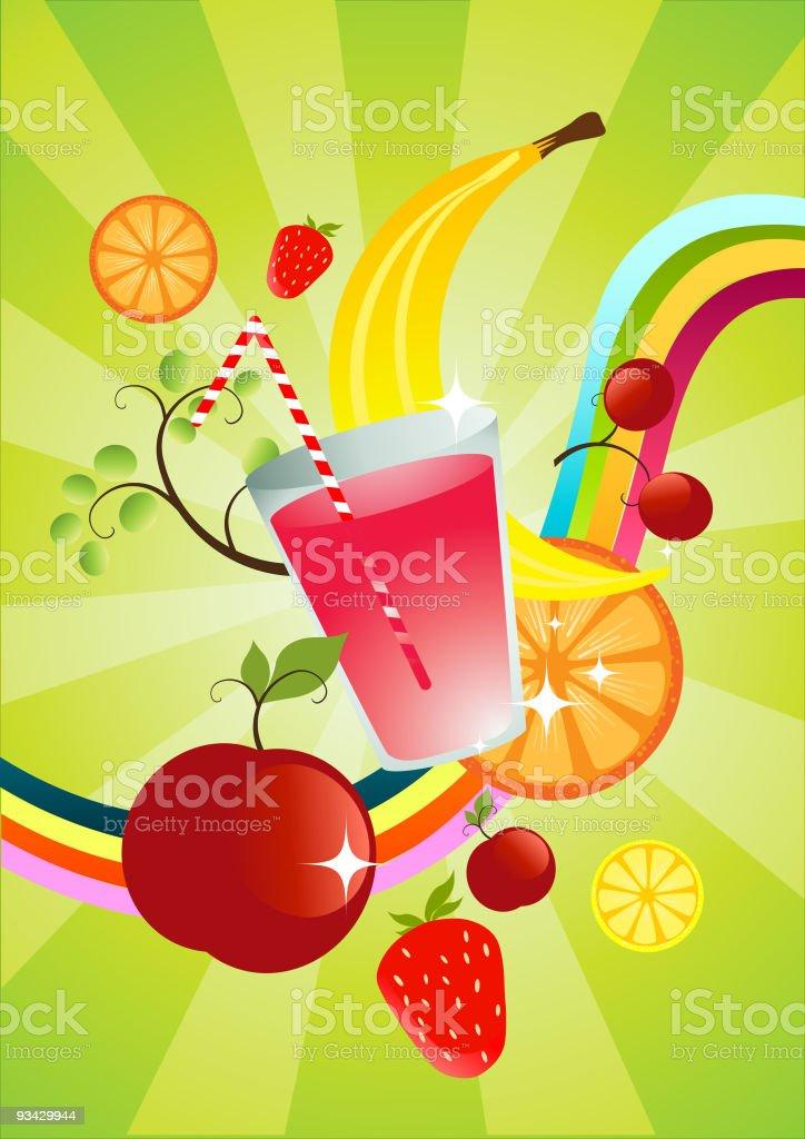 fresh Fruit Smoothie royalty-free stock vector art