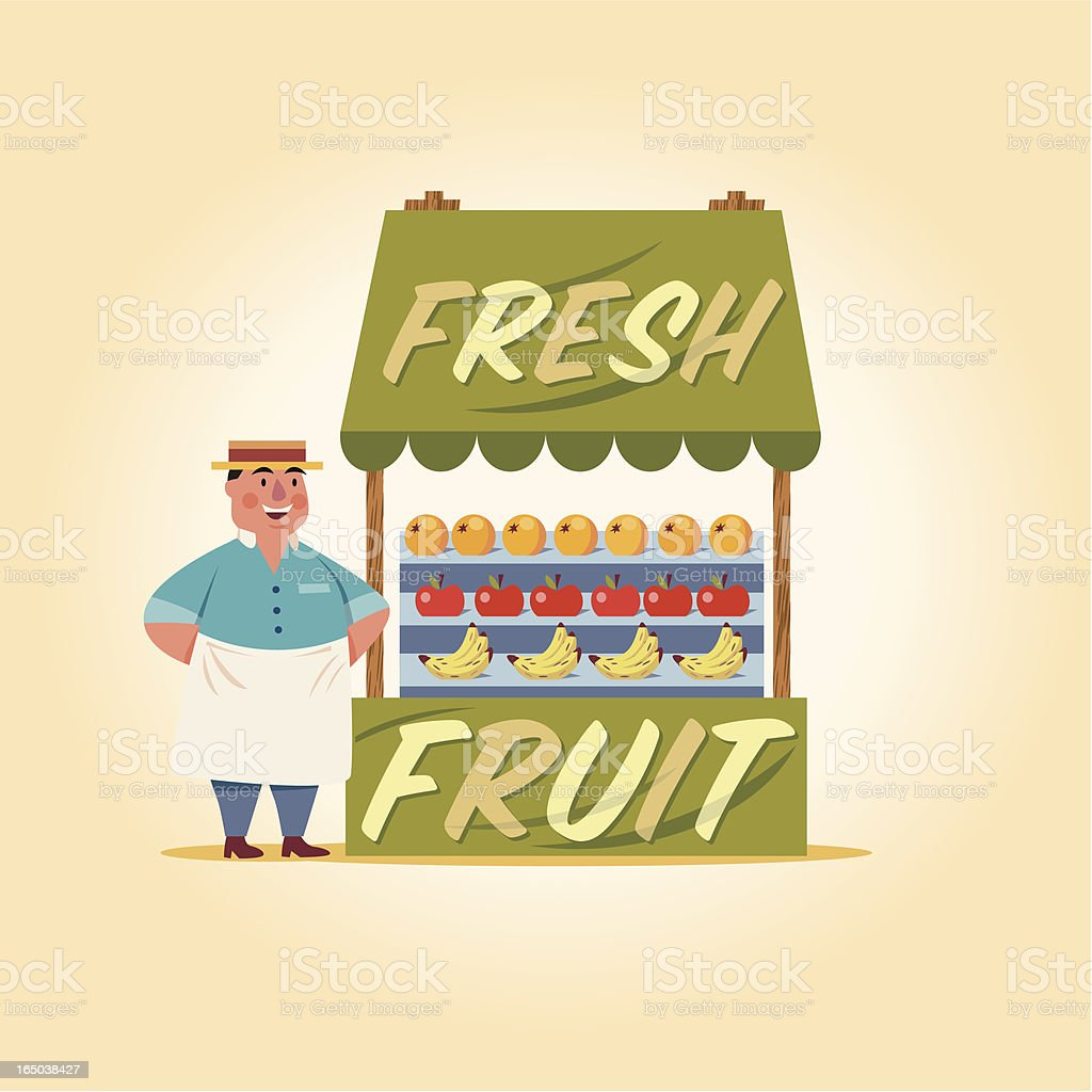 Fresh Fruit royalty-free stock vector art