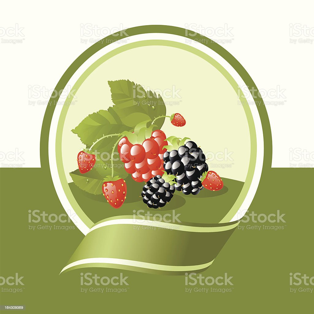 fresh fruits label royalty-free stock vector art