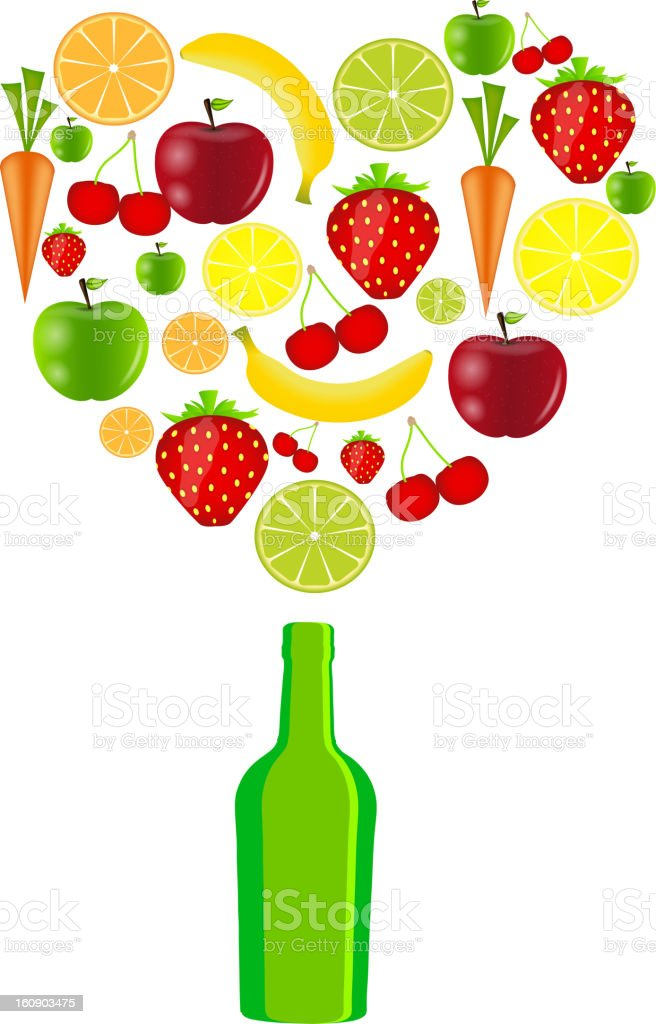 fresh fruits vector illustration royalty-free stock vector art