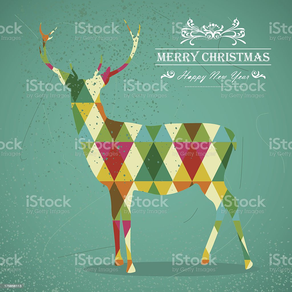 Fresh hipster Merry Christmas background royalty-free stock vector art