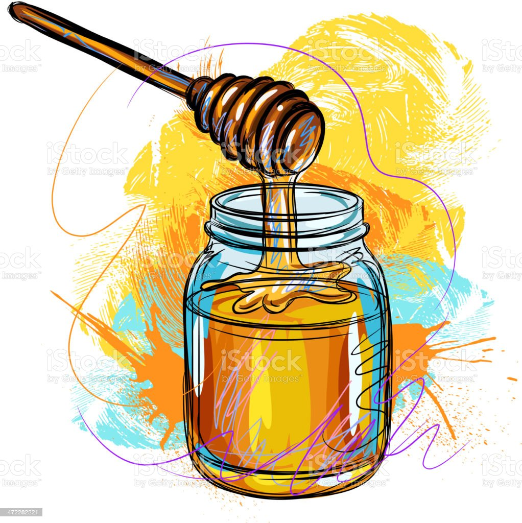 Fresh Honey vector art illustration
