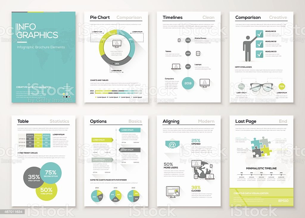 Fresh infographics vector concept. Business graphics brochures vector art illustration
