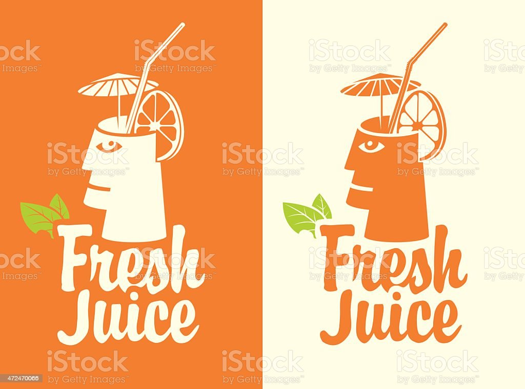 Fresh juice vector art illustration