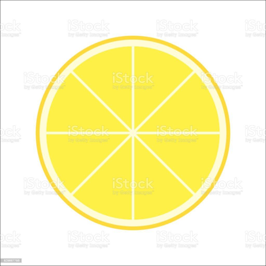 Fresh Juicy Lemon Slice Vector Isolated vector art illustration