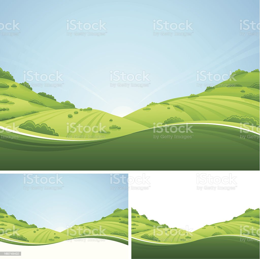 Fresh Landscape vector art illustration