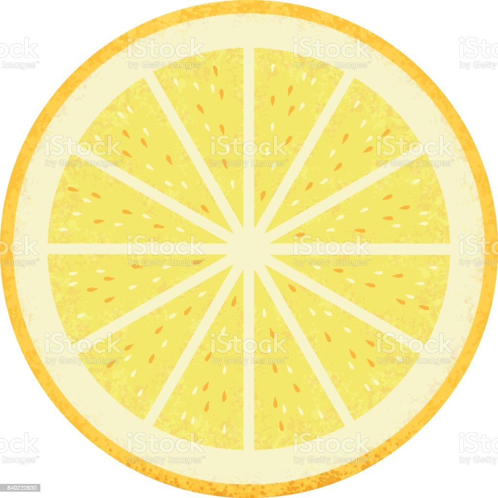 Fresh lemon cut in half vector art illustration