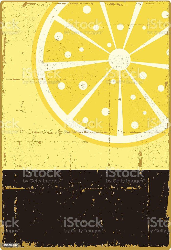Fresh Lemon Sign vector art illustration