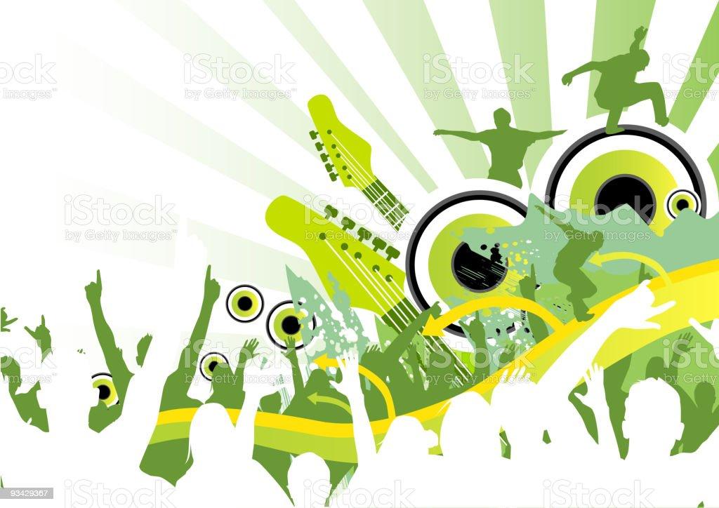Fresh Music Jump royalty-free stock vector art