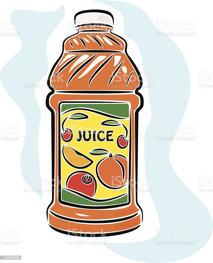 Fresh Natural Fruit Juice (Vector) royalty-free stock vector art