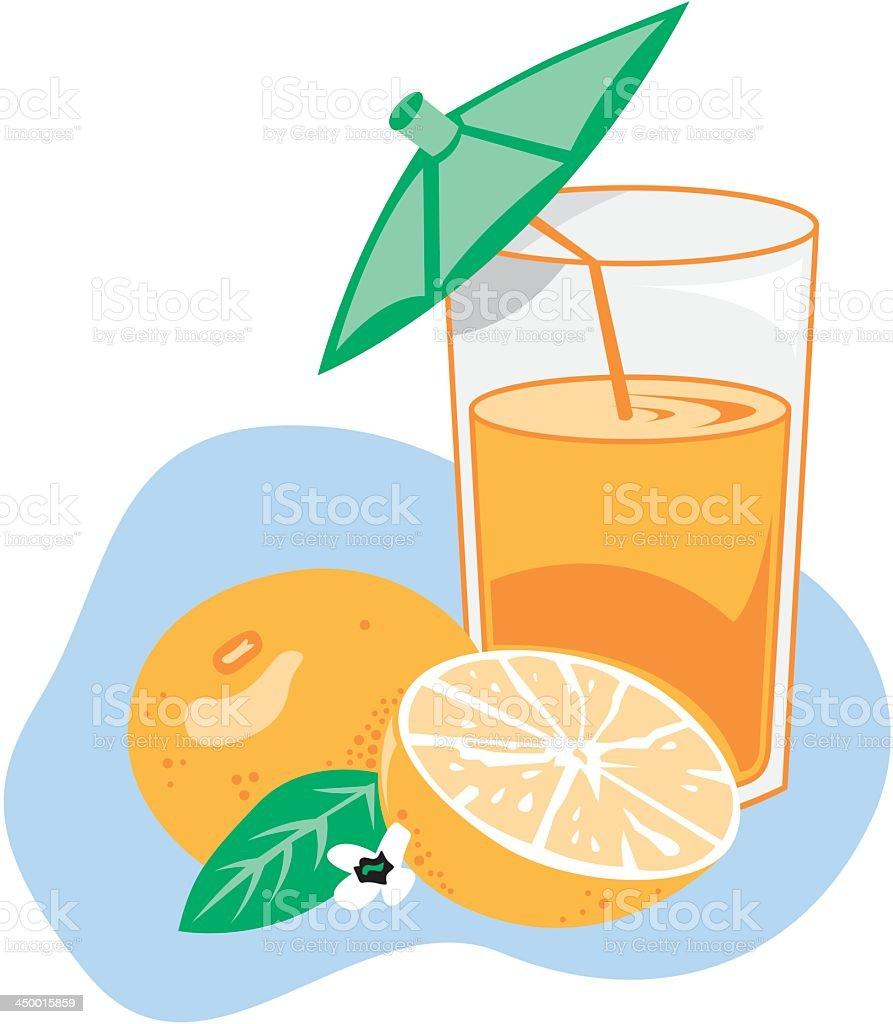 Fresh Orange Juice vector art illustration