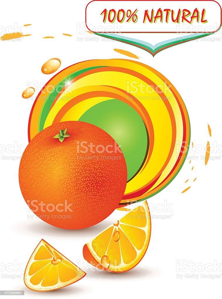 Fresh orange royalty-free stock vector art
