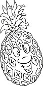 Fresh pineapple cartoon
