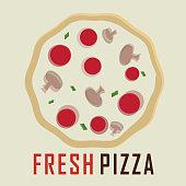 Fresh pizza design