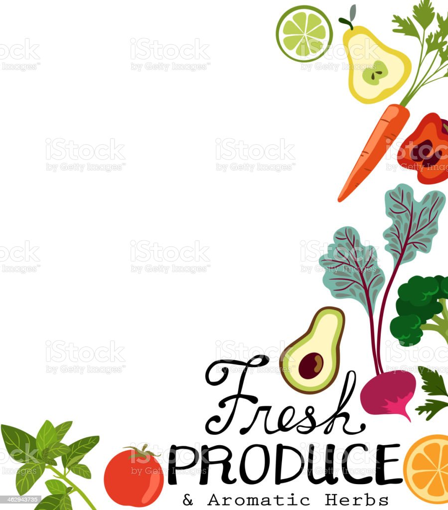 Fresh Produce vector art illustration