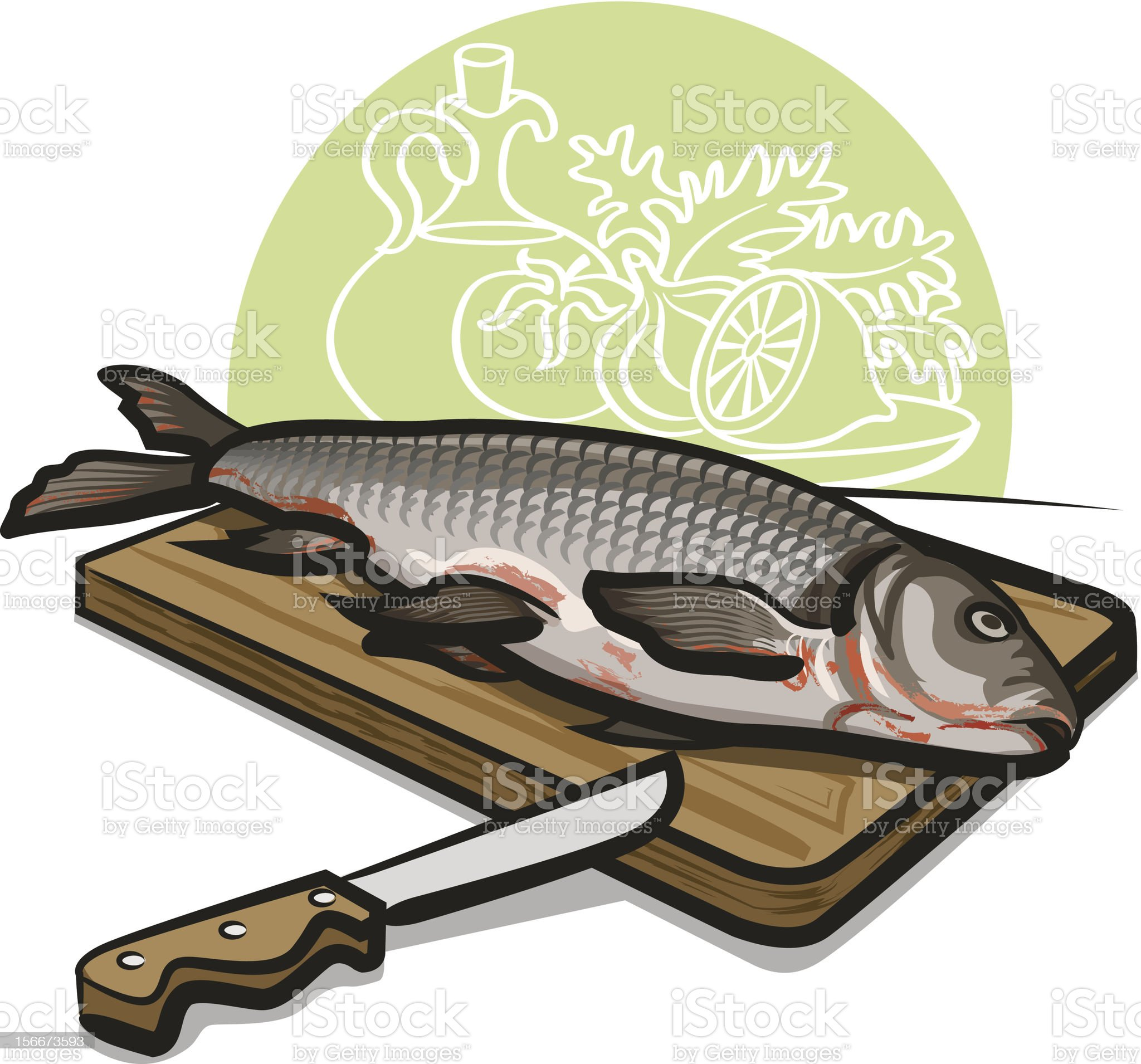 fresh raw fish royalty-free stock vector art