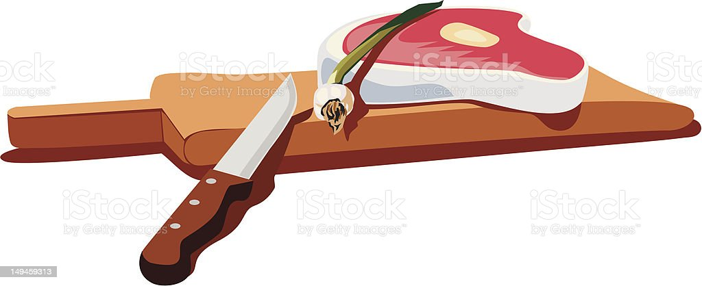 Fresh raw meat royalty-free stock vector art