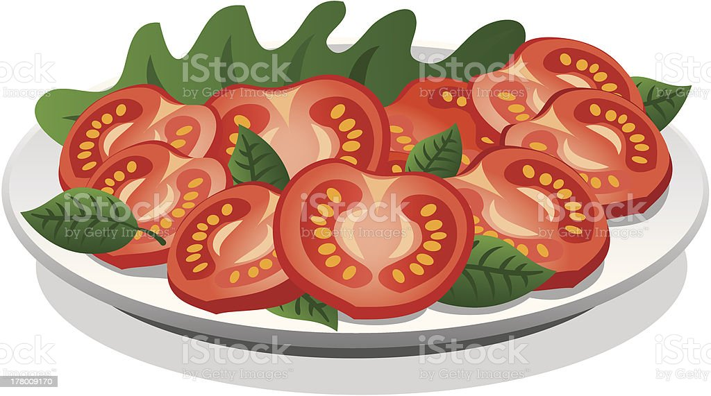 fresh salad royalty-free stock vector art