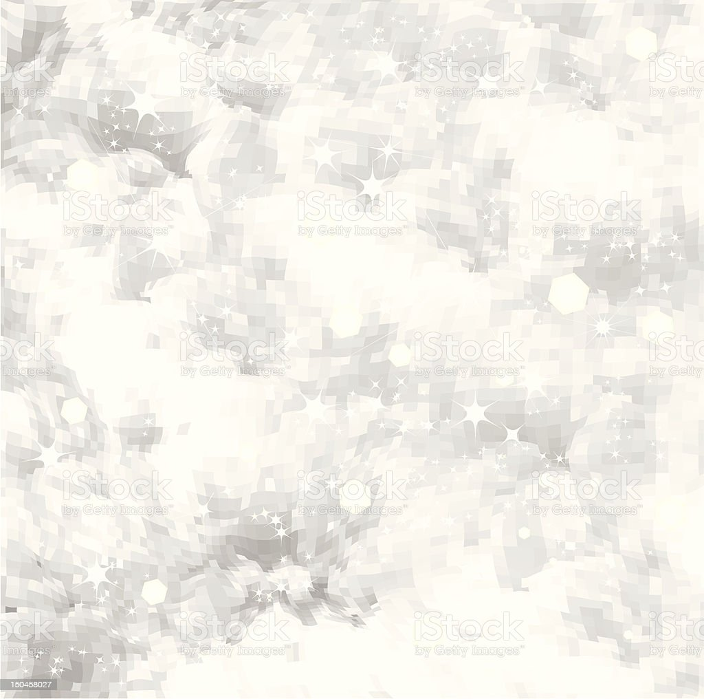 Fresh snow texture with star. Vector background royalty-free stock vector art