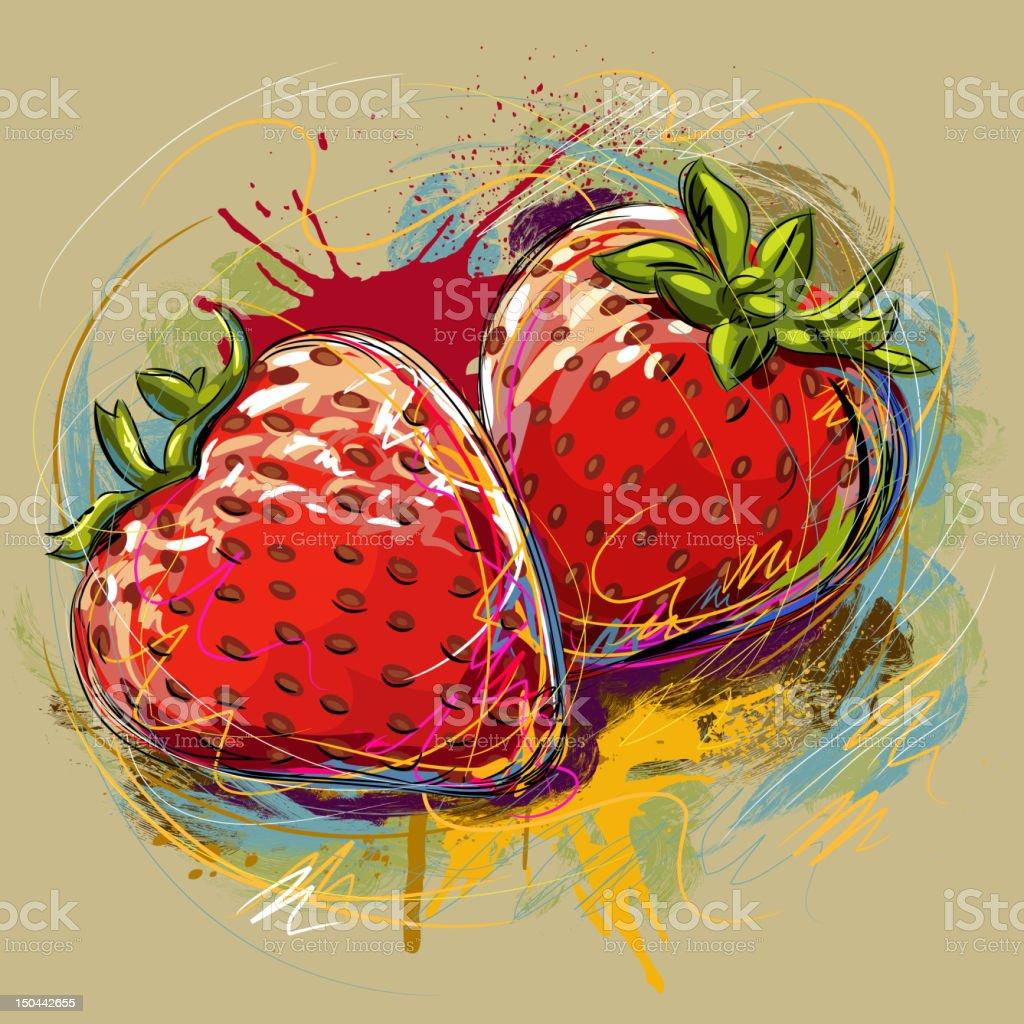 Fresh Strawberries royalty-free stock vector art