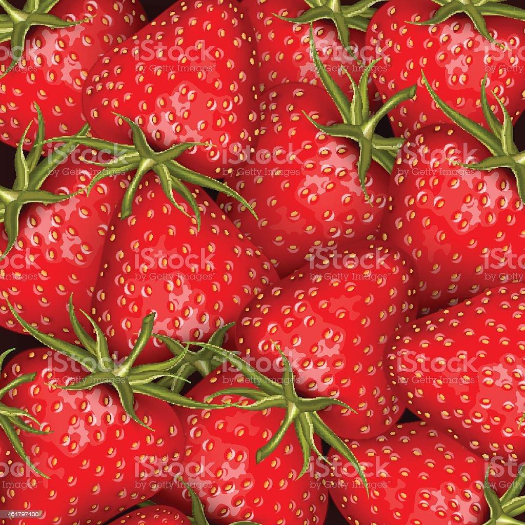 Fresh strawberry background vector art illustration