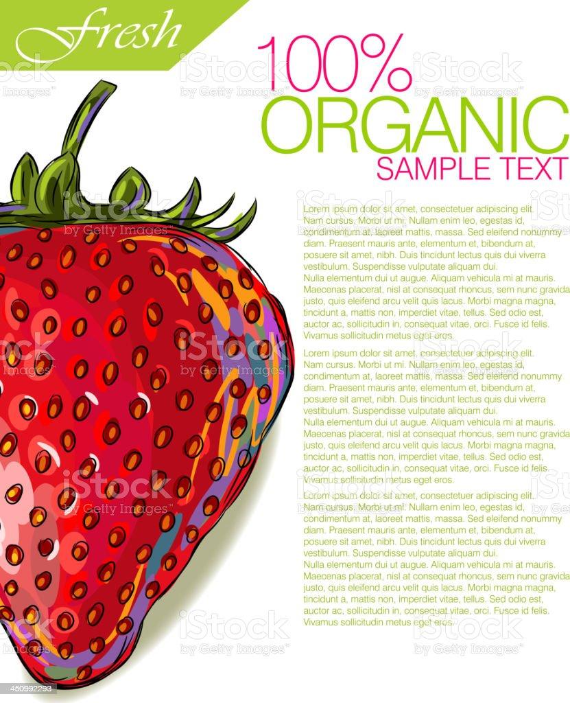 Fresh Strawberry royalty-free stock vector art