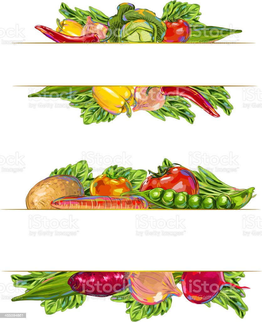 Fresh Vegetables banners royalty-free stock vector art