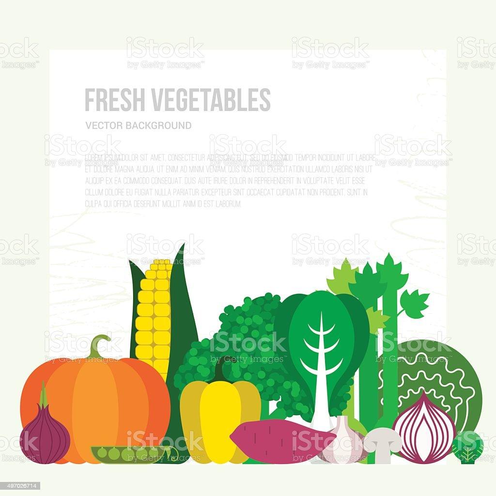 Fresh Vegetables Concept vector art illustration