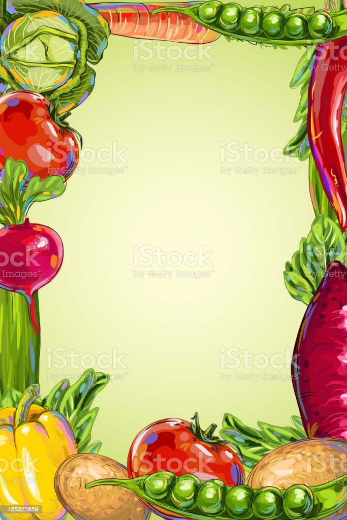 Fresh Vegetables Frame royalty-free stock vector art
