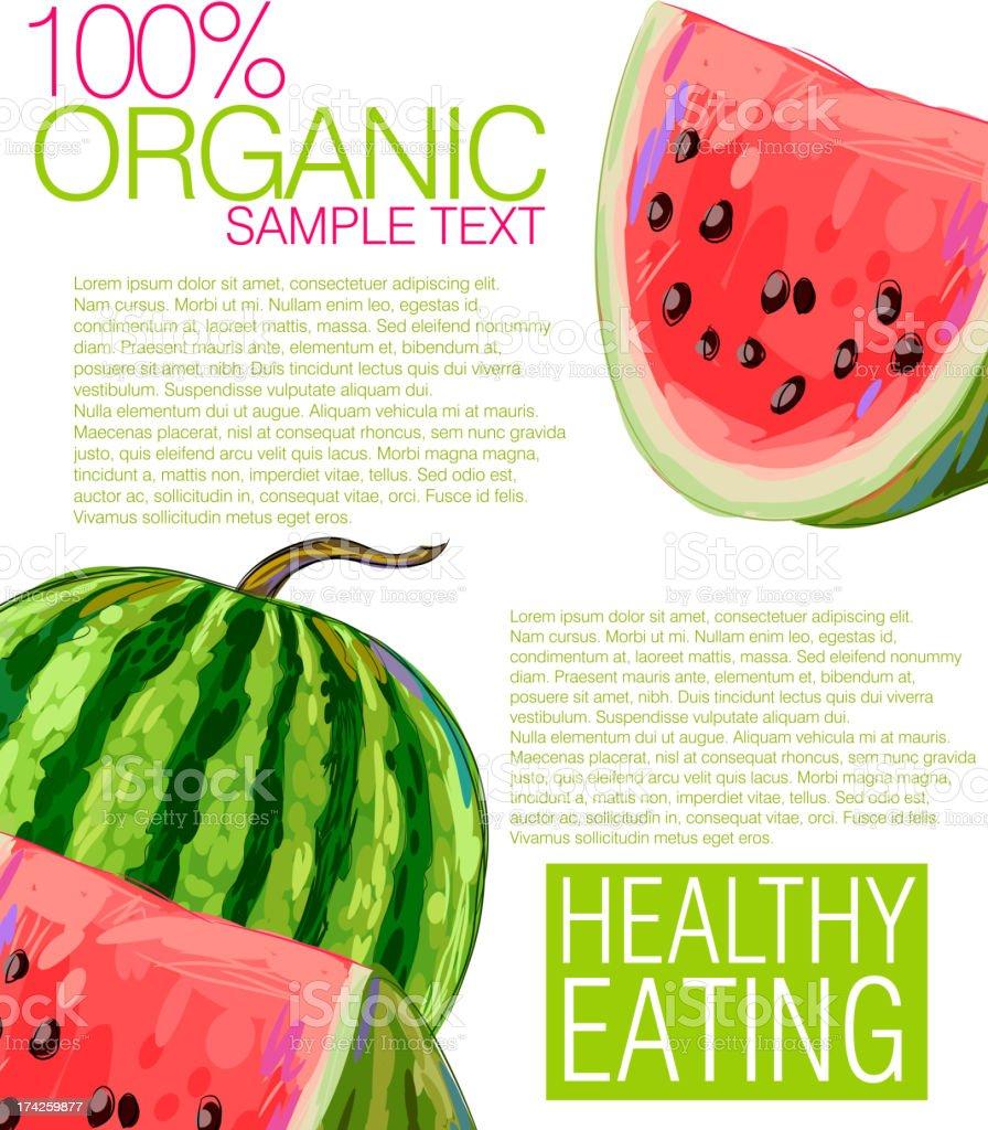 Fresh Water Melon royalty-free stock vector art